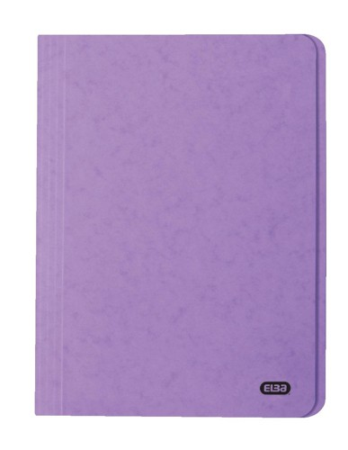 Elba Boston Square Cut Folder Pressboard 300 micron for 32mm Foolscap Lilac Ref 100090025 [Pack 50]