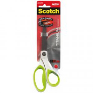 Scotch Titanium Scissors Ambidextrous Comfort Handles 200mm Green Ref 1458T-Green