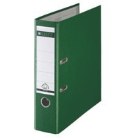 Leitz Mini Lever Arch File Plastic 52mm Spine A4 Green Ref 10151055 [Pack 10]