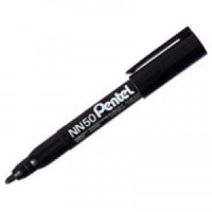 Pentel Permanent Marker Bullet Tip Black NN50-A