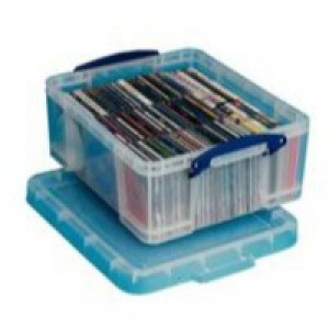 Really Useful Storage Box Plastic Lightweight Robust Stackable 18 Litre 390x480x200mm Clear Code 18C