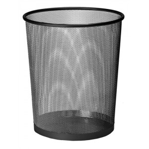 Mesh Waste Bin Lightweight Sturdy Scratch Resistant W275xH350mm Black