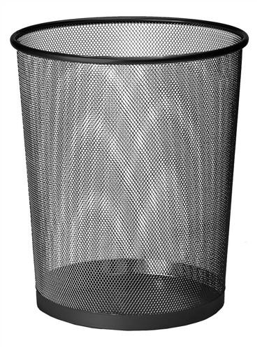 Mesh Waste Bin Lightweight Sturdy Scratch Resistant W275xH350mm Black