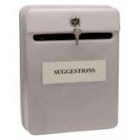 Post or Suggestion Box Wall Mountable with Fixings Grey