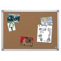 Bi-Office Earth-it Notice Board Cork with Aluminium Frame W900xH600mm Ref CA031790