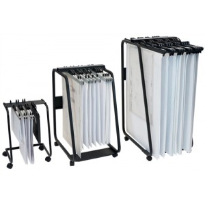 Arnos Hang-A-Plan General Front Load Trolley for Approx 20 Binders A1-A2-B1 W555xD730xH990mm Ref D061