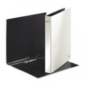 Leitz WOW Ring Binder 2 D-Ring Size 25mm for 250 Sheets A4 Maxi White Ref 42410001 [Pack 10]