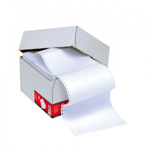 5 Star Listing Paper 1-Part Microperforated 70gsm 12inchx235mm Plain [2000 Sheets]