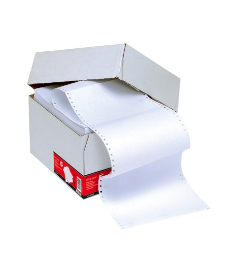 5 Star Listing Paper 1-Part 60gsm 11inchx368mm Plain [2000 Sheets]