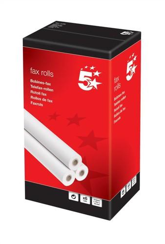 5 Star Fax Roll 216mmx30Mx12.7mm
