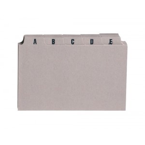 5 Star Guide Card Set A-Z 8x5in 25 Cards 203x127mm Buff