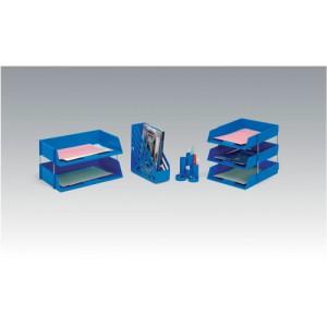5 Star Letter Tray High-impact Polystyrene Foolscap Blue Ref CP0435SBLU