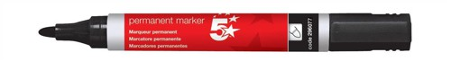 5 Star Office Perm Marker Bullet Tip Blk