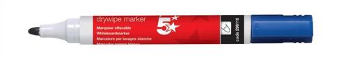 5 Star Office Dry Wipe Marker Blu 449651