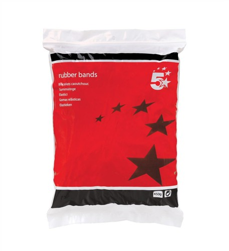 5 Star RubberBands Assorted 454g Bag