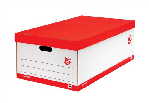 5 Star Jumbo Storage Box White