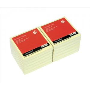 5 Star Re-Move Notes 76x76mm Yellow