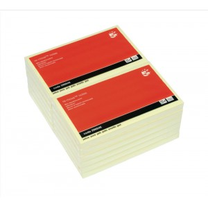 5 Star Re-Move Notes 76x127mm Yellow