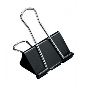 5 Star Foldback Clips 19mm Black [Pack 12]