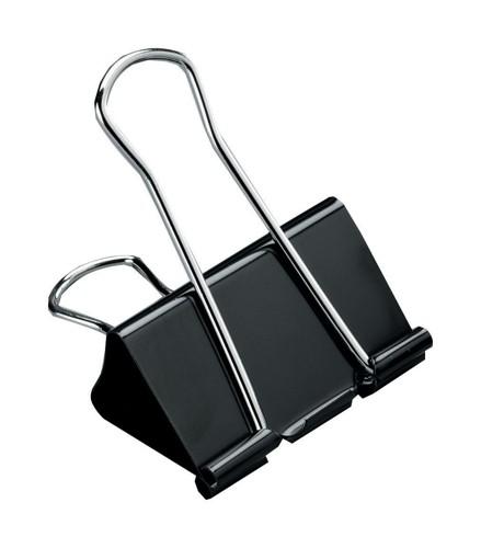5 Star Foldback Clips 19mm Black [Pack 12]