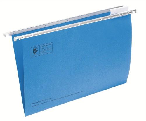 5 Star Suspension Files Fcap Blue Pk50