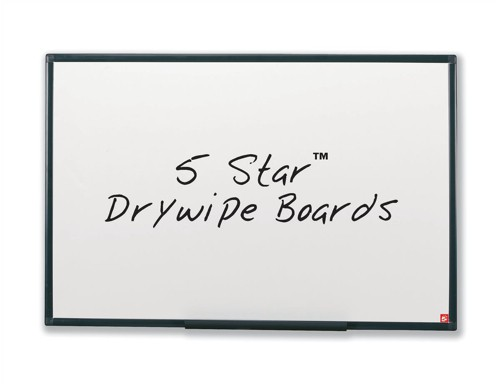 5 Star Drywipe Board Lightweight with Fixing Kit and Pen Tray W900xH600mm