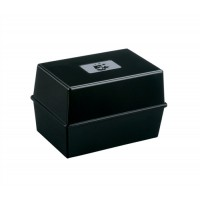 Image for 5 Star Card Index Box Capacity 250 Cards 5x3in 127x76mm Black