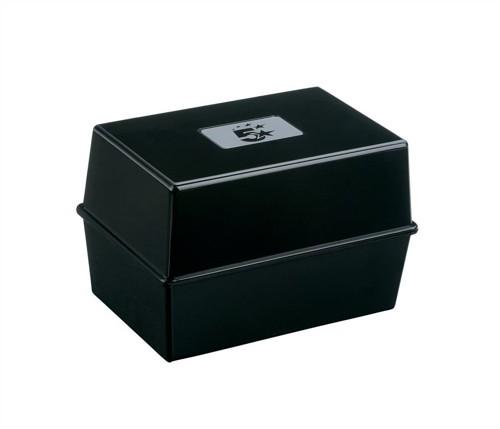 5 Star Card Index Box 5X3 Black