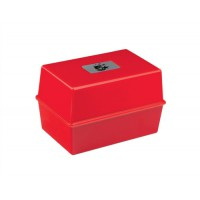 Image for 5 Star Card Index Box Capacity 250 Cards 5x3in 127x76mm Red