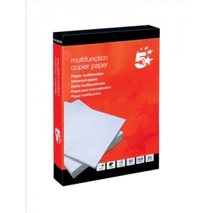 5 Star Office Copier Paper Multifunctional 80gsm 500 Sheets per Ream A4 White
