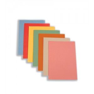 5 Star Square Cut Folder Recycled Pre-punched 250gsm Foolscap Buff [Pack 100]