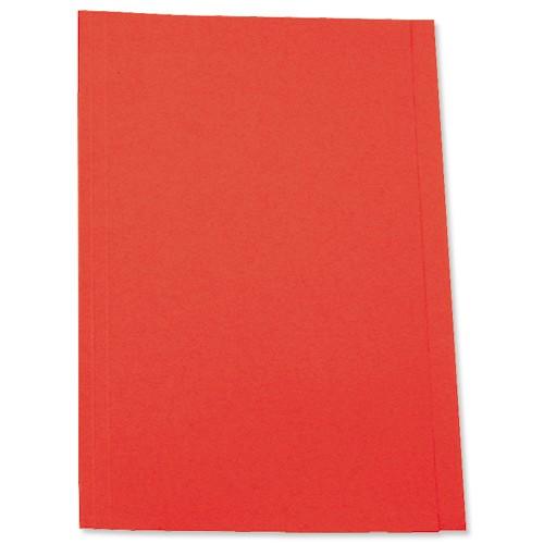 5 Star Square Cut Folder 250g Fcp Red