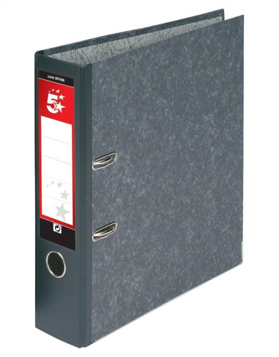 5 Star Lever Arch File 70mm A4 Cloudy Grey [Pack 10]