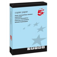 Image for 5 Star Coloured Copier Paper Multifunctional Ream-Wrapped 80gsm A4 Blue [500 Sheets]