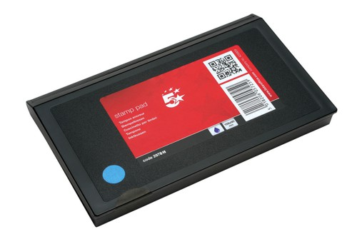 5 Star Stamp Pad 158X90mm Blue