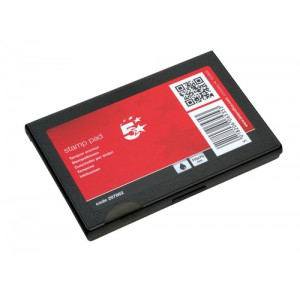 5 Star Stamp Pad 110x70mm Black