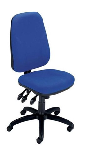 Trexus Intro Maxi Operator Chair Asynchronous High Back H590mm W530xD470xH480-610mm Blue
