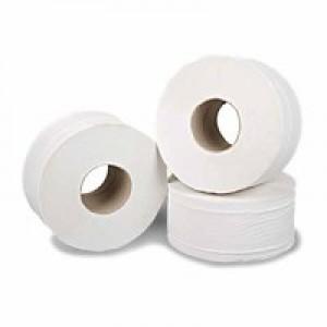 2Work Mini Jumbo Roll 2 Ply White 92mmx200m Pk 6 J27200