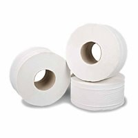 2Work Mini Jumbo Roll 2-Ply White 92mm x200 Metres Pack of 12 J27200