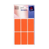 Avery Packets of Labels 50x25mm Fluorescent Red Ref 32-220 [10x36 Labels]