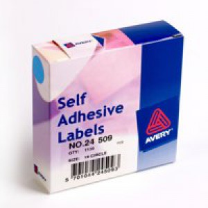 Avery Label Dispenser for Diam.19mm Blue Ref 24-509 [1120 Labels]