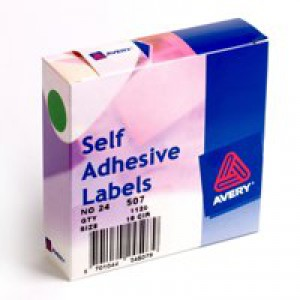 Avery Label Dispenser for Diam.19mm Green Ref 24-507 [1120 Labels]