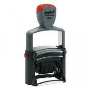 Trodat Professional 5440/L Dater Stamp Textplate Stock Text in Blue Date in Red Ref 75490