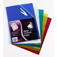 Rexel Nyrex Folder Cut Flush A4 Blue Ref 12161BU [Pack 25]