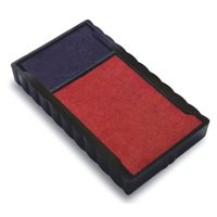 Trodat Replacement Ink Pad 649122 Red/Blue Ref 83541 [Pack 2]