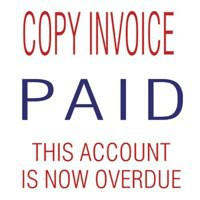 Image for Trodat 3-in-1 Stamp Stack Accounts - Copy Invoice - Paid - this Account is Now Overdue Ref 11167