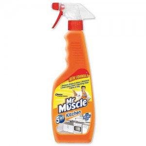 Mr Muscle Kitchen Cleaner Lemon Trigger Spray for All Kitchen Surfaces 5 in 1 500ml Ref 97991