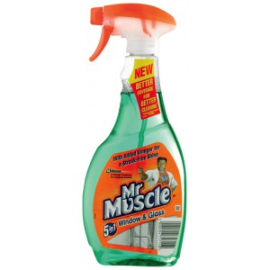 Mr Muscle Window and Glass Cleaner Spray Bottle 5 in 1 500ml Ref 88715