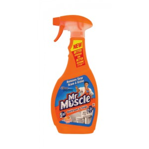 Mr Muscle Bathroom Cleaner Spray Bottle 5 in 1 500ml Ref 97992