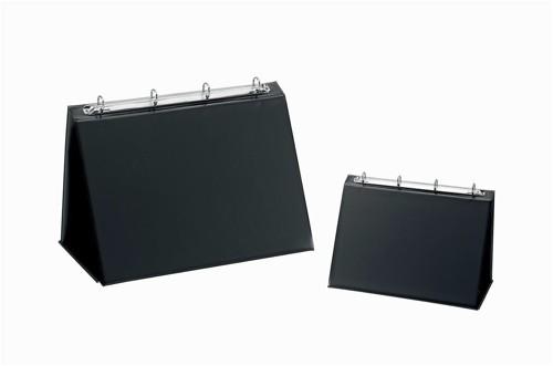 Easel Presenter Collapsible Flip Over 4 Ring 20mm Landscape A4 Black
